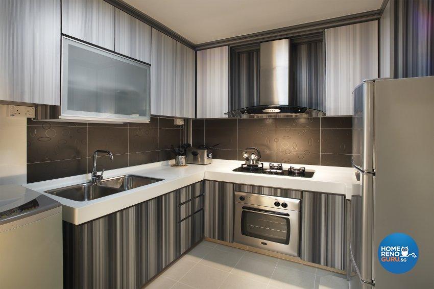 Contemporary, Modern, Scandinavian Design - Kitchen - HDB 5 Room - Design by Dreamvision Designer Pte Ltd