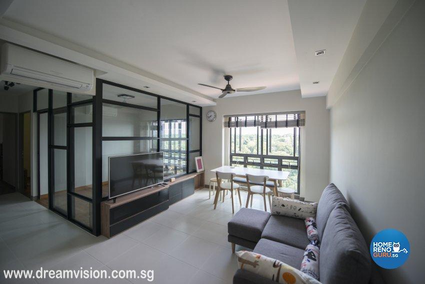 Classical, Modern, Scandinavian Design - Living Room - Condominium - Design by Dreamvision Designer Pte Ltd