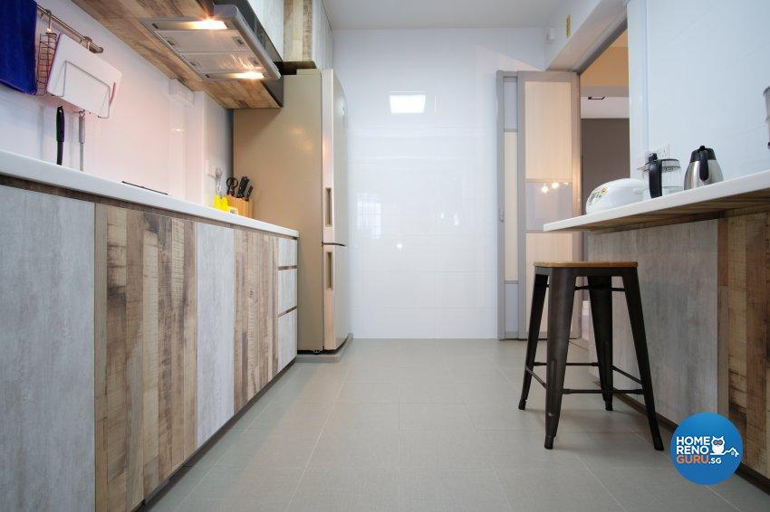 Contemporary, Scandinavian Design - Kitchen - HDB 5 Room - Design by Dreamvision Designer Pte Ltd