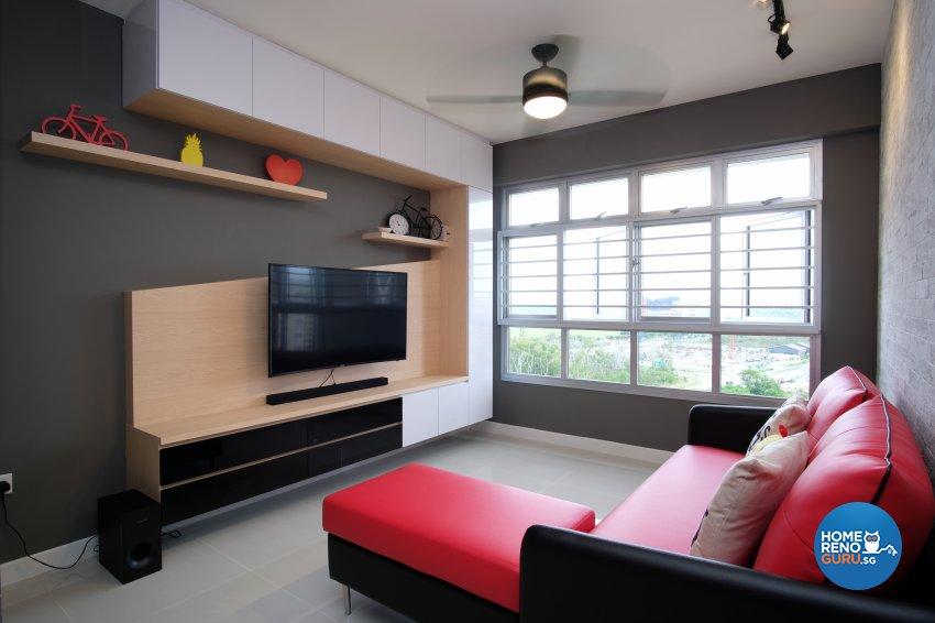 Contemporary, Scandinavian Design - Living Room - HDB 5 Room - Design by Dreamvision Designer Pte Ltd