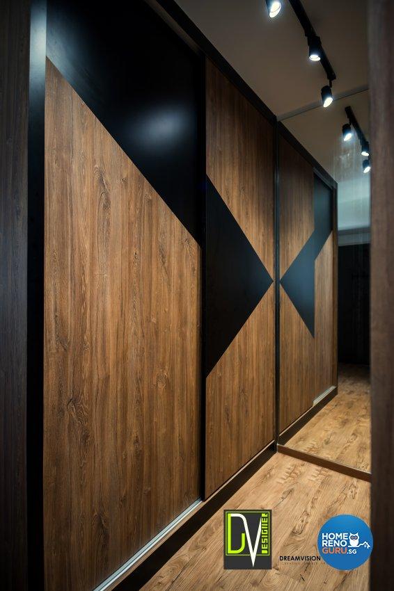 Contemporary Design - Bedroom - HDB 4 Room - Design by Dreamvision Designer Pte Ltd