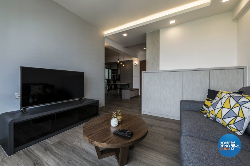 Contemporary, Modern Design - Living Room - HDB 4 Room - Design by DS 2000 Interior & Design