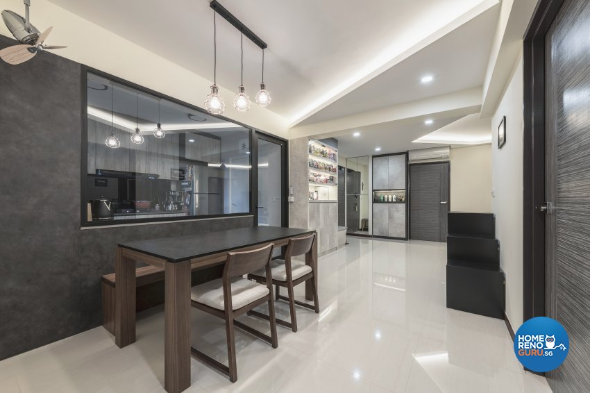 Industrial, Modern Design - Dining Room - HDB 5 Room - Design by DS 2000 Interior & Design