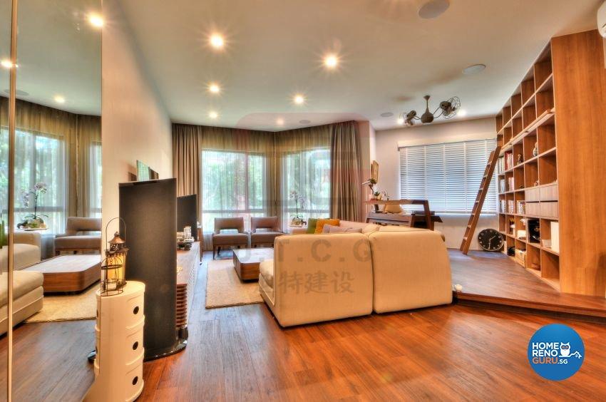 Contemporary, Modern, Resort Design - Living Room - Condominium - Design by DT construction group Pte ltd
