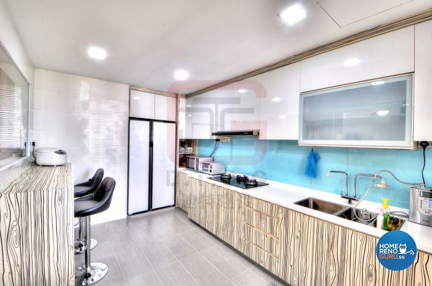 Country, Vintage Design - Kitchen - HDB 3 Room - Design by DT construction group Pte ltd