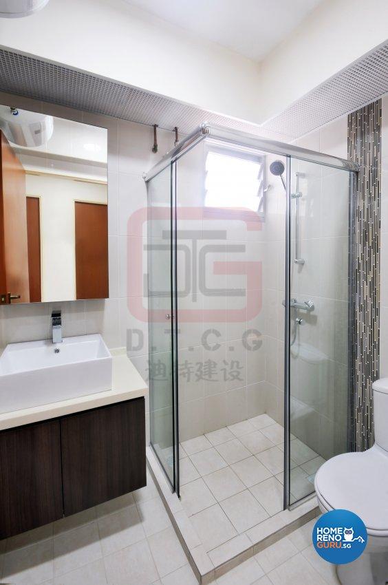 Contemporary, Minimalist Design - Bathroom - HDB 4 Room - Design by DT construction group Pte ltd