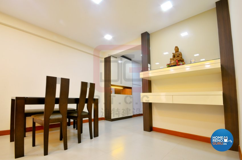 Contemporary, Minimalist Design - Dining Room - HDB 4 Room - Design by DT construction group Pte ltd
