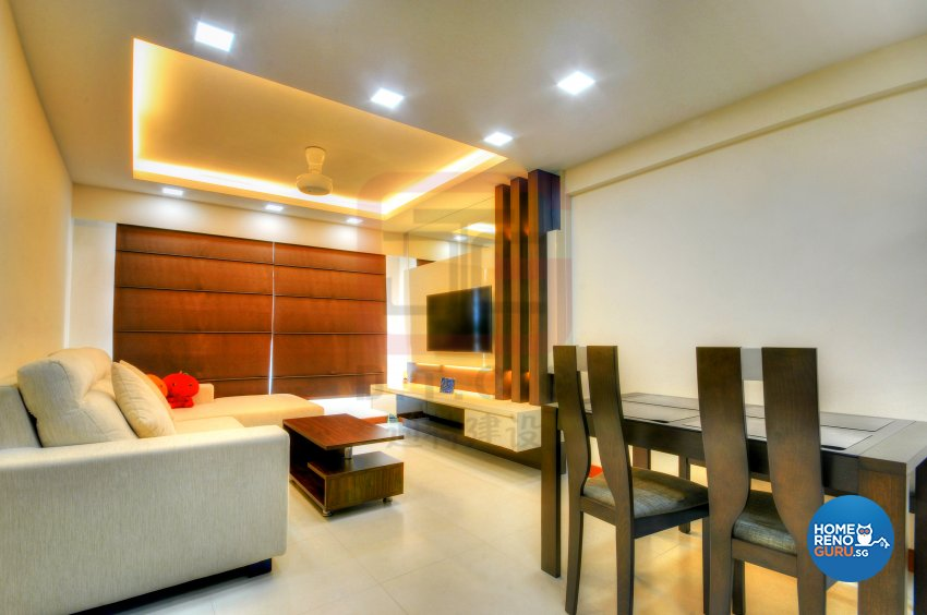 Contemporary, Minimalist Design - Living Room - HDB 4 Room - Design by DT construction group Pte ltd