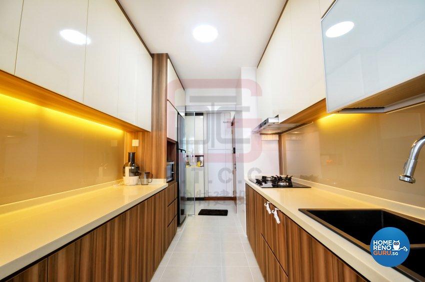 Contemporary, Minimalist Design - Kitchen - HDB 4 Room - Design by DT construction group Pte ltd