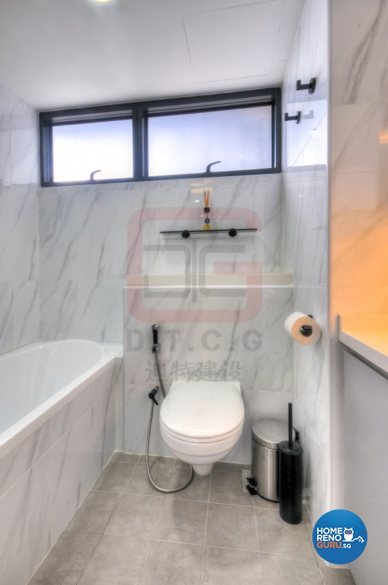 Minimalist, Modern Design - Bathroom - HDB 4 Room - Design by DT construction group Pte ltd