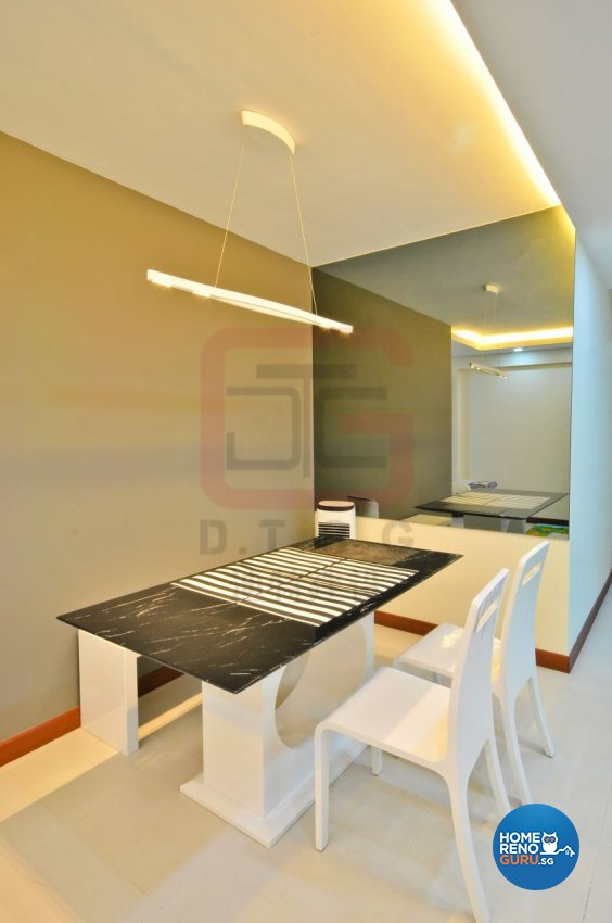 Contemporary, Minimalist, Modern Design - Dining Room - HDB 4 Room - Design by DT construction group Pte ltd