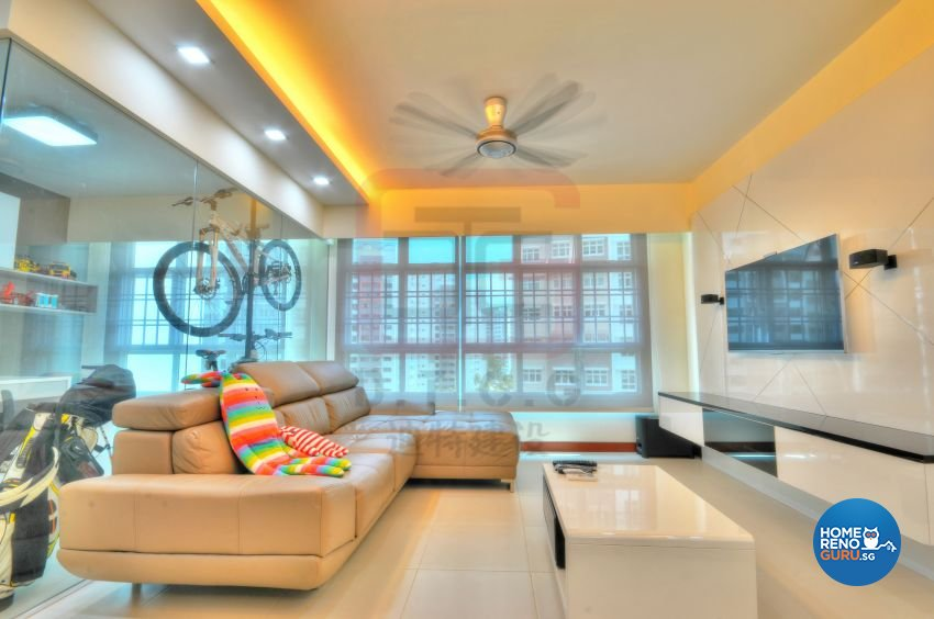 Contemporary, Minimalist, Modern Design - Living Room - HDB 4 Room - Design by DT construction group Pte ltd