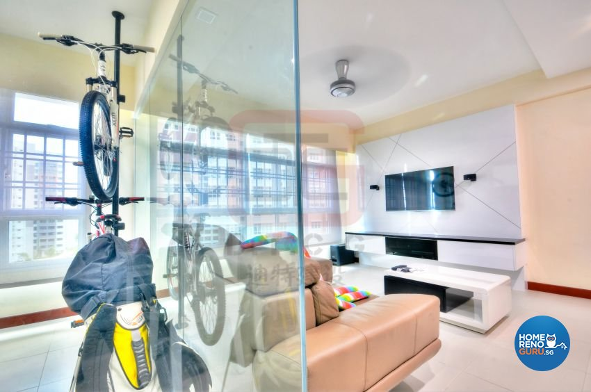 Contemporary, Minimalist, Modern Design - Living Room - HDB 4 Room - Design by DT construction group Pte ltd