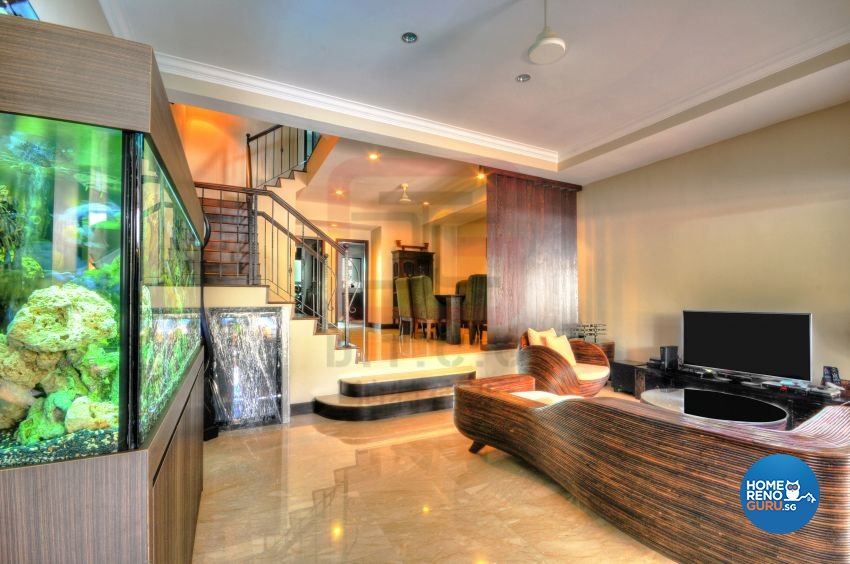 Contemporary, Resort, Tropical Design - Living Room - Landed House - Design by DT construction group Pte ltd
