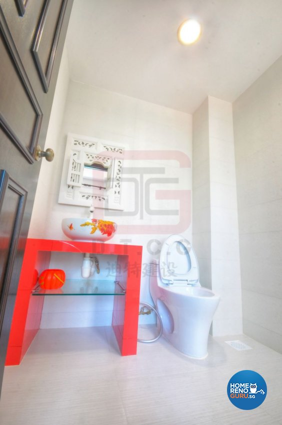 Contemporary, Resort, Tropical Design - Bathroom - Landed House - Design by DT construction group Pte ltd