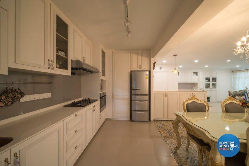 Classical, Modern, Victorian Design - Kitchen - HDB 5 Room - Design by Dyel Pte Ltd