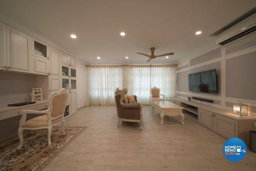 Classical, Modern, Victorian Design - Living Room - HDB 5 Room - Design by Dyel Pte Ltd