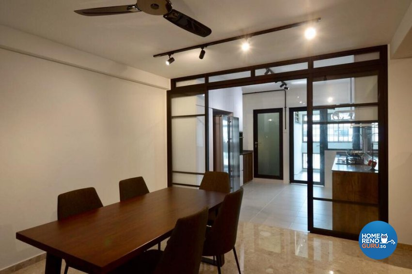 Contemporary, Industrial Design - Dining Room - HDB 5 Room - Design by Dyel Pte Ltd