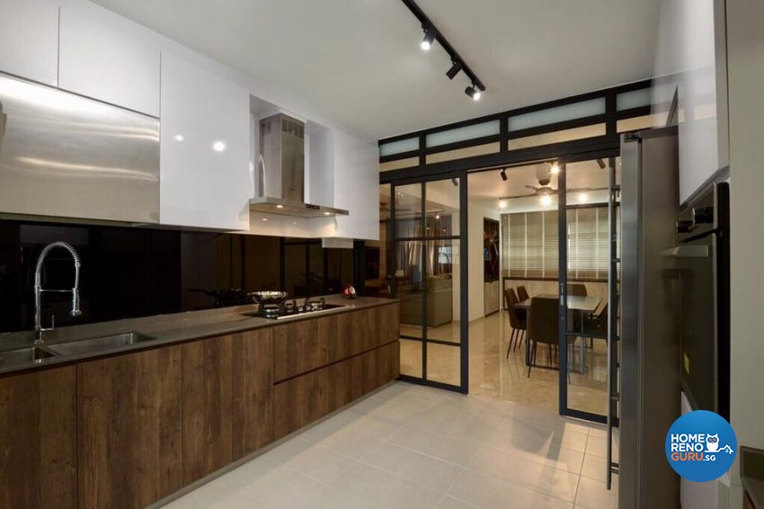 Contemporary, Industrial Design - Kitchen - HDB 5 Room - Design by Dyel Pte Ltd