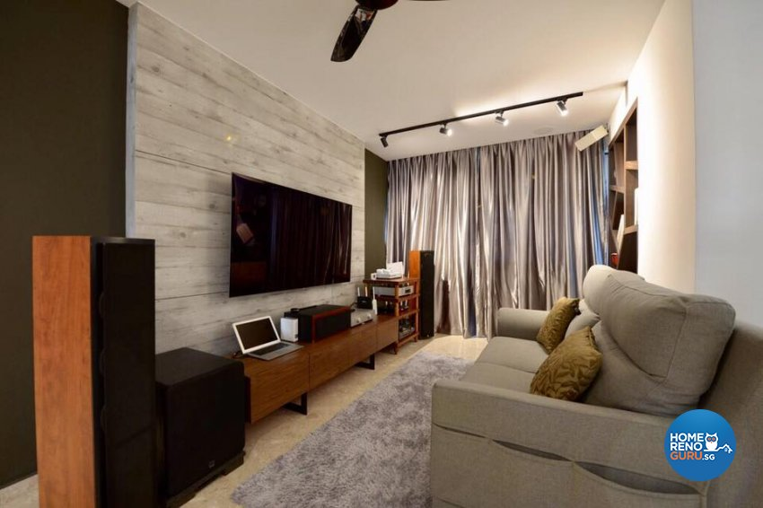 Contemporary, Industrial Design - Living Room - HDB 5 Room - Design by Dyel Pte Ltd