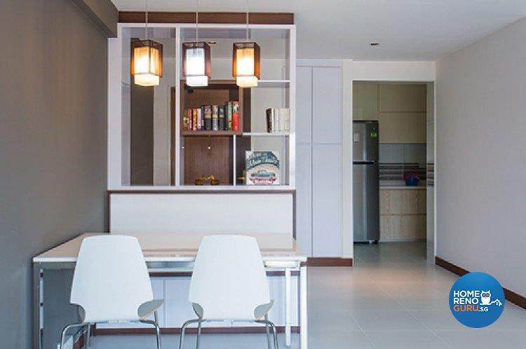 Minimalist Design - Dining Room - HDB 4 Room - Design by Dzign Station Pte ltd