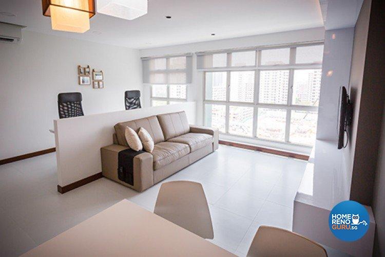 Minimalist Design - Living Room - HDB 4 Room - Design by Dzign Station Pte ltd