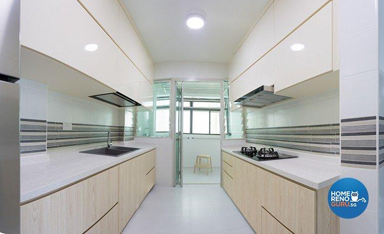 Minimalist Design - Kitchen - HDB 4 Room - Design by Dzign Station Pte ltd