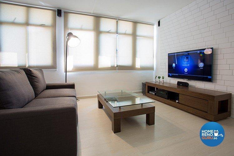Scandinavian Design - Living Room - HDB 5 Room - Design by Dzign Station Pte ltd