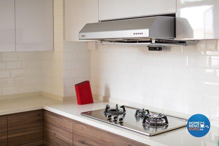 Scandinavian Design - Kitchen - HDB 5 Room - Design by Dzign Station Pte ltd
