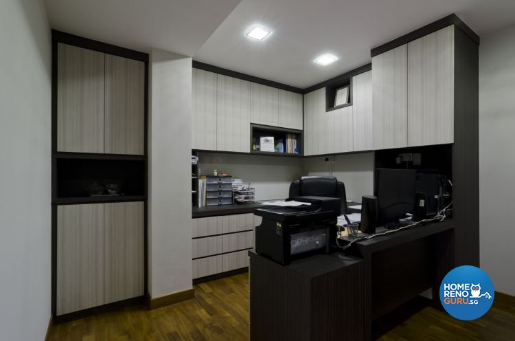 Minimalist Design - Study Room - HDB 5 Room - Design by Dzign Station Pte ltd