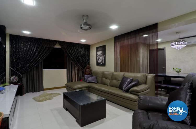 Minimalist Design - Living Room - HDB 5 Room - Design by Dzign Station Pte ltd