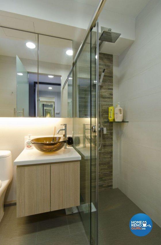 Minimalist Design - Bathroom - HDB 5 Room - Design by Dzign Station Pte ltd