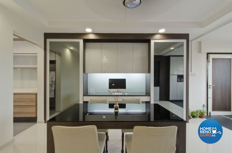 Minimalist Design - Dining Room - HDB 5 Room - Design by Dzign Station Pte ltd