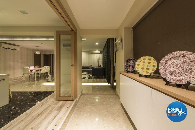 Modern Design - Kitchen - HDB Executive Apartment - Design by Dzign Station Pte ltd
