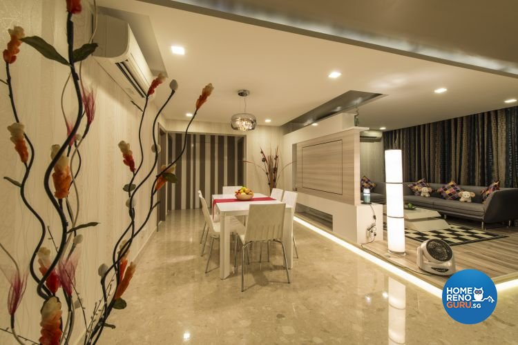 Modern Design - Living Room - HDB Executive Apartment - Design by Dzign Station Pte ltd