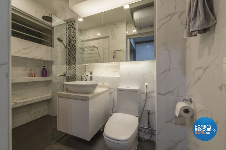Modern Design - Bathroom - HDB Executive Apartment - Design by Dzign Station Pte ltd