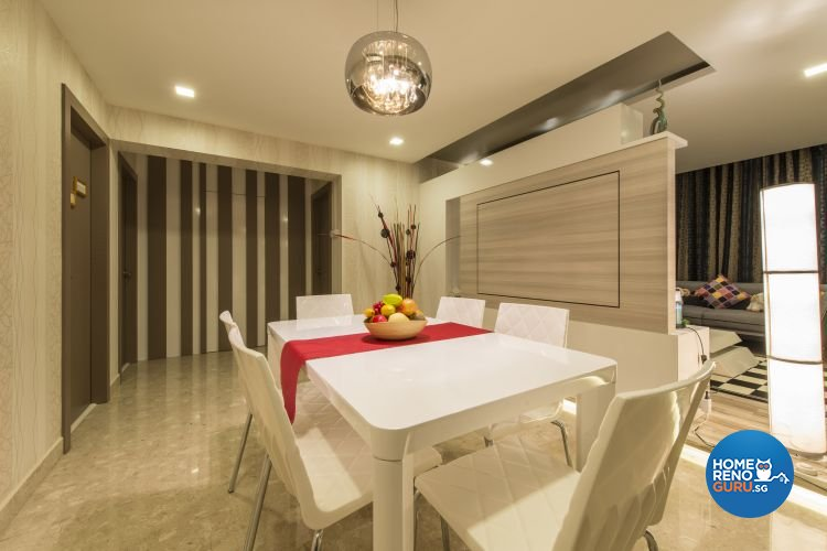 Modern Design - Dining Room - HDB Executive Apartment - Design by Dzign Station Pte ltd