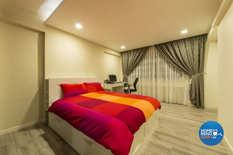 Modern Design - Bedroom - HDB Executive Apartment - Design by Dzign Station Pte ltd