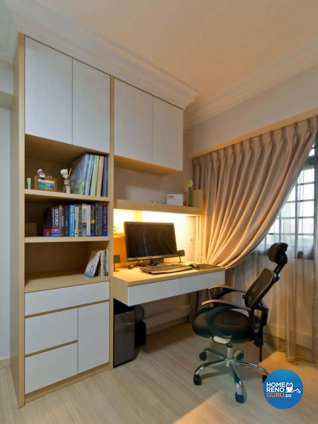 Minimalist Design - Study Room - HDB 4 Room - Design by Dzign Station Pte ltd
