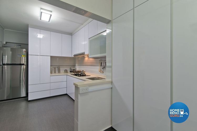 Minimalist Design - Kitchen - HDB 4 Room - Design by Dzign Station Pte ltd