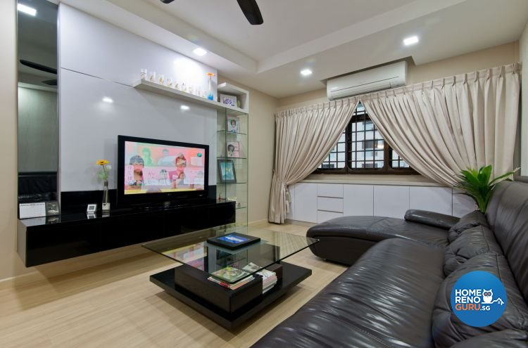 Minimalist Design - Living Room - HDB 4 Room - Design by Dzign Station Pte ltd
