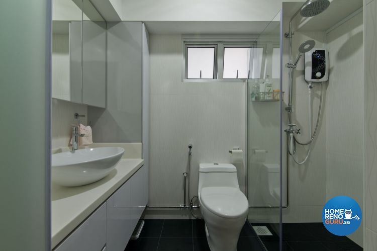 Minimalist Design - Bathroom - HDB 4 Room - Design by Dzign Station Pte ltd