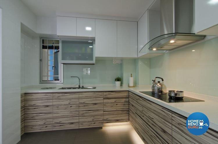 Modern Design - Kitchen - HDB 4 Room - Design by Dzign Station Pte ltd