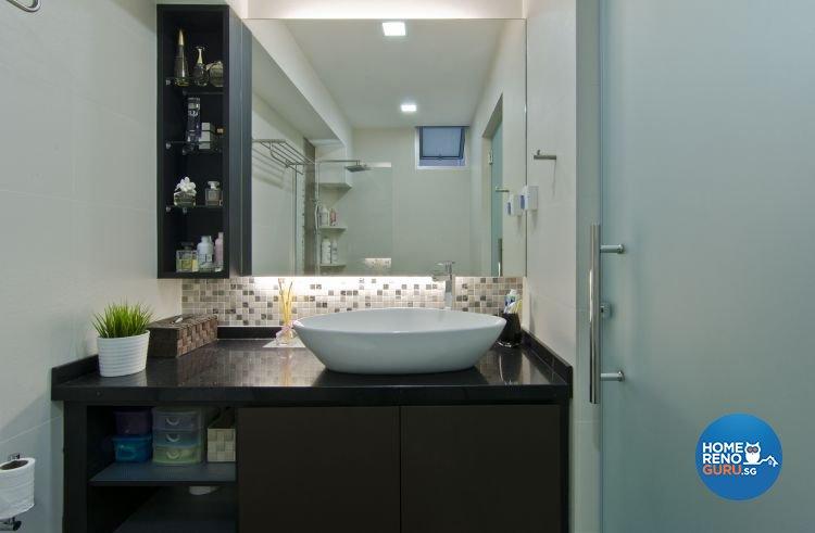 Modern Design - Bathroom - HDB 4 Room - Design by Dzign Station Pte ltd