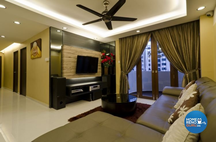 Contemporary Design - Living Room - HDB 5 Room - Design by Dzign Station Pte ltd
