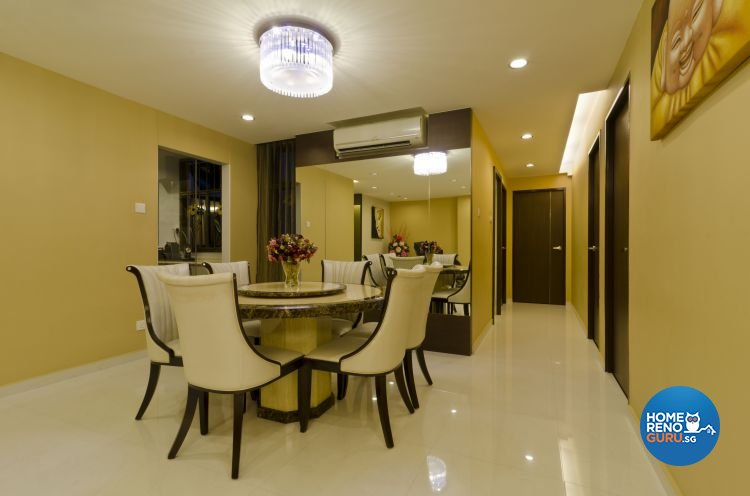 Contemporary Design - Dining Room - HDB 5 Room - Design by Dzign Station Pte ltd