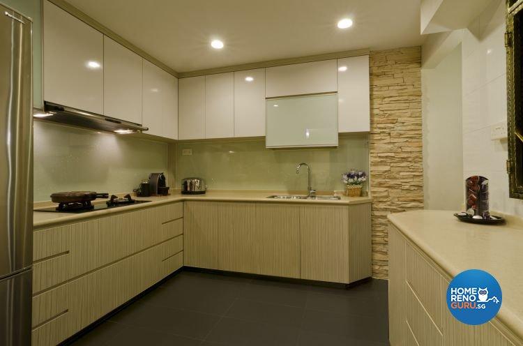 Contemporary Design - Kitchen - HDB 5 Room - Design by Dzign Station Pte ltd