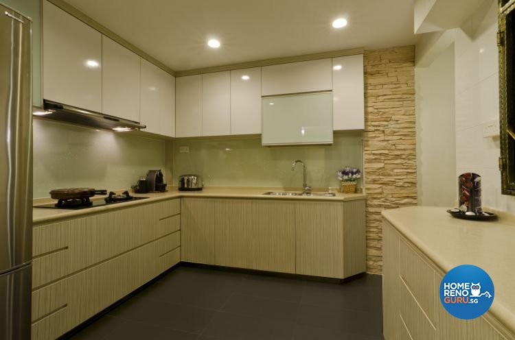 Contemporary Design - Kitchen - HDB 5 Room - Design by Dzign Station Pte ltd