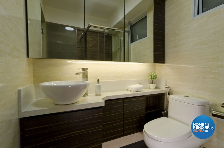 Contemporary Design - Bathroom - HDB 5 Room - Design by Dzign Station Pte ltd