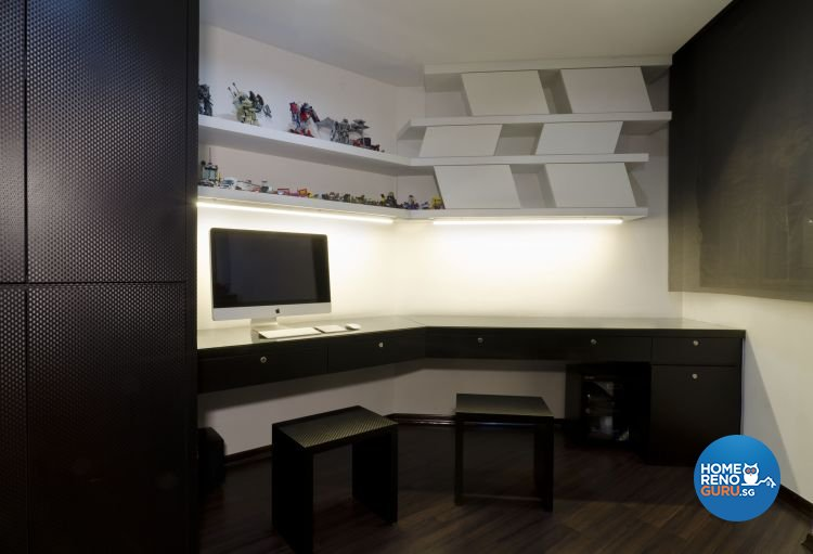 Contemporary Design - Study Room - HDB 5 Room - Design by Dzign Station Pte ltd